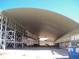 Spantech 300 Series curved panels span ceiling at world's 4th largest bakery in NSW