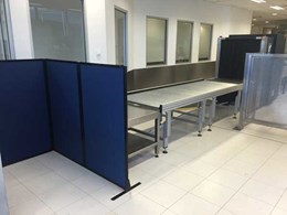 PPA portable partitions used to create baggage screening areas at Sydney airport