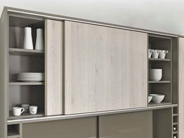 Sliding and folding doors adding a new dimension to ergonomic kitchens