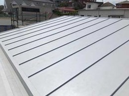 Zinc roof look achieved with Cosmofin PVC standing seams