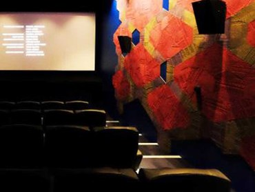Signature Shapes carpet tiles on the interior walls at Palace Nova Cinema