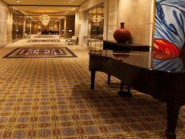 Brintons carpet adds a regal touch to the Palladium Pre-Function area at Crown Casino, Melbourne