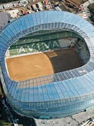 SUNTUF corrugated polycarbonate panels specified for Aviva Stadium, Ireland