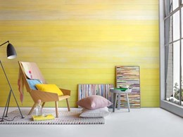 Striking art wall created with Raw Paulownia lining boards