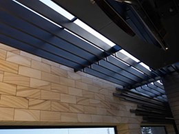 Innowood louvres get a recoat during Penrith Panthers Club upgrade