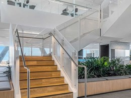 Perforated balustrades transform signature fire stairs at North Sydney building