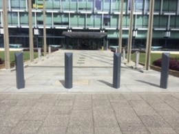 Leda's triangular bollards prevent illegal vehicle entry at Perth Council Chambers