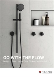 Go with the flow: Designing bathrooms for water efficiency and comfort