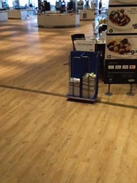 Polyflor Expona Design vinyl flooring provides tough solution for high traffic IKEA Marsden Park restaurant