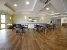 Polyflor flooring specified for all rooms at Clayton Community Aged Care Facility, VIC