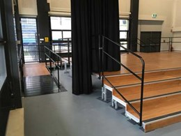 QUATTRO stage system for new build Wentworth Point School Hall, NSW