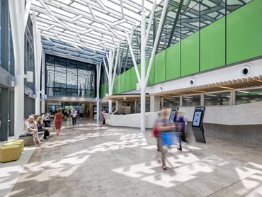 The new Royal Adelaide Hospital (RAH) is the first large-scale hospital complex in Australia to achieve a 4 Star Green Star—Healthcare As Built rating from the Green Building Council of Australia (GBCA). Image: Supplied.