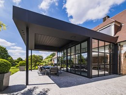 Renson Aero Skye built-in retractable bladed roof redefines outdoor living