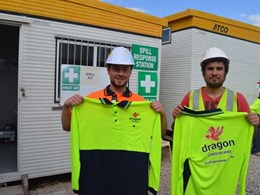 Dragon extends support to R U OK Day at Total Construction site