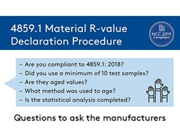 R-value declaration procedure as per updated Australian insulation standard