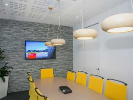 Gyprock plasterboard delivers acoustic, health and aesthetic benefits to real estate office
