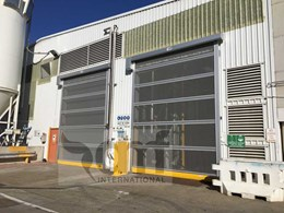 Rapid roll screen doors prevent bird entry at Sydney packaging company