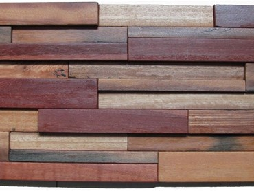The timber panels are produced from timber sourced from old ships and structures