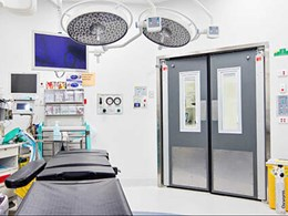 Automatic doors meeting critical hygiene needs in healthcare settings