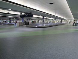 Neoflex Rubber Flooring used in Brisbane International Terminal expansion