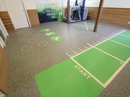 Marked floors at peak sports and spine centre make exercise easy