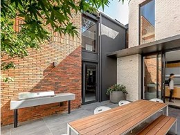 Handmade Petersen bricks create distinct look on 2-storey Woollahra home