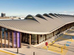 Robina Town Centre features distinctive roof design with double lock standing seam