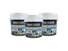 New Tuscany Trowel On Coarse is Rockcote's coarsest acrylic render