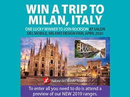 Win a trip to Milan, Italy with Rocks On - Hard Surface Solutions