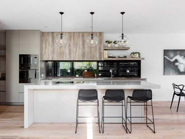 Caesarstone's London Grey 5000 was selected for the kitchen benchtop