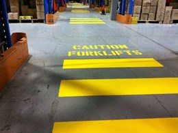 Preventing forklift accidents with unique Rotech boom gate and pedestrian gate combo