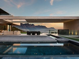 Modern architecture with a pool
