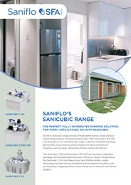 Saniflo's Sanicubic range: The perfect fully integrated pumping solution