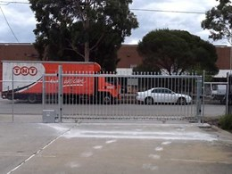 7-metre Magnetic track gate replaces manual chain-link gate at distribution centre