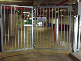 Magnetic trackless speed gates secure emergency services site against vehicle and pedestrian entry