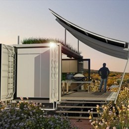 G-pod unveils shipping container dwelling with expandable living space