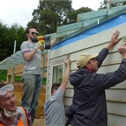 Australian product suppliers and retailers team up with Habitat for Humanity to build Crib Point homes