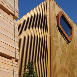 Four creative facades that use timber differently
