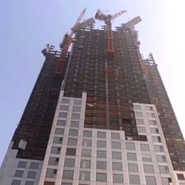 World's tallest prefab building constructed three-storeys per day and saved 15,000 truckloads of concrete