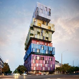 "Jackson Clements Burrow's ""Lego tower"" in St Kilda taking shape"