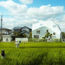 MAD Architects transform home in Japan into kindergarten that children can draw on
