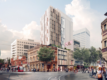 PBD have proposed to demolish the existing 3-4 storey commercial buildings at 746-750A George Street to make way for a new 14-storey hotel with a three storey retail podium and an 11-storey tower element.