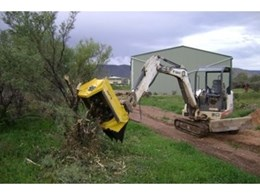 30EX Excavator Flail Mulcher from OZ Turners gives NSW Contractor Versatile Performance