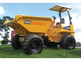 6 tonne payload and 9 tonne payload site dumpers now available from Coates Hire