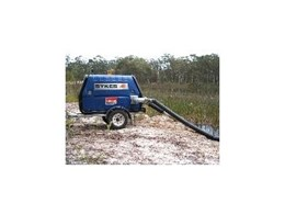 6in trailer-mounted pump available from Kennards Hire