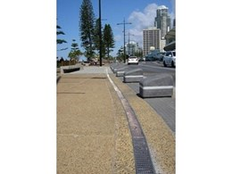 ACO KlassikDrain KS100 trench drain system and Heelsafe anti-slip grates installed at Surfers Paradise Foreshore project