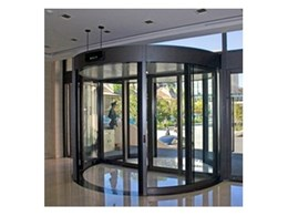 Record Automated Doors Duotour Series revolving door installed at ResMed