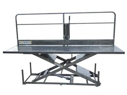 Actisafe heavy duty stainless steel scissor lifts now with safety rails
