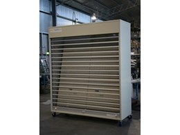 Actisafe industrial security storage units featuring electric roller shutters