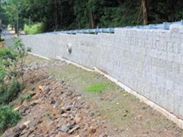 Adbri Masonry's Landmark retaining wall system specified for Wilson's Creek Road rebuild